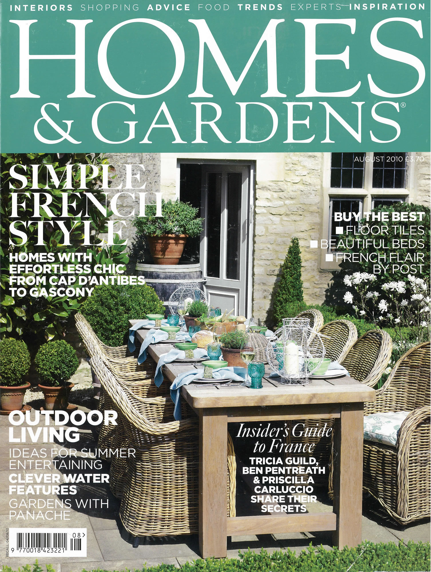 Homes & Gardens FP August 2010